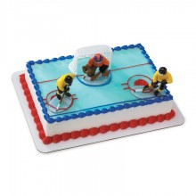 Hockey Face-Off Cake